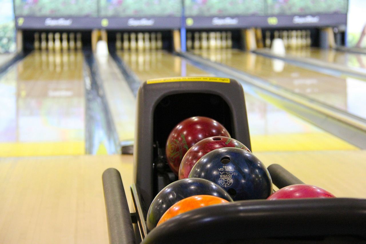 A bowling alley