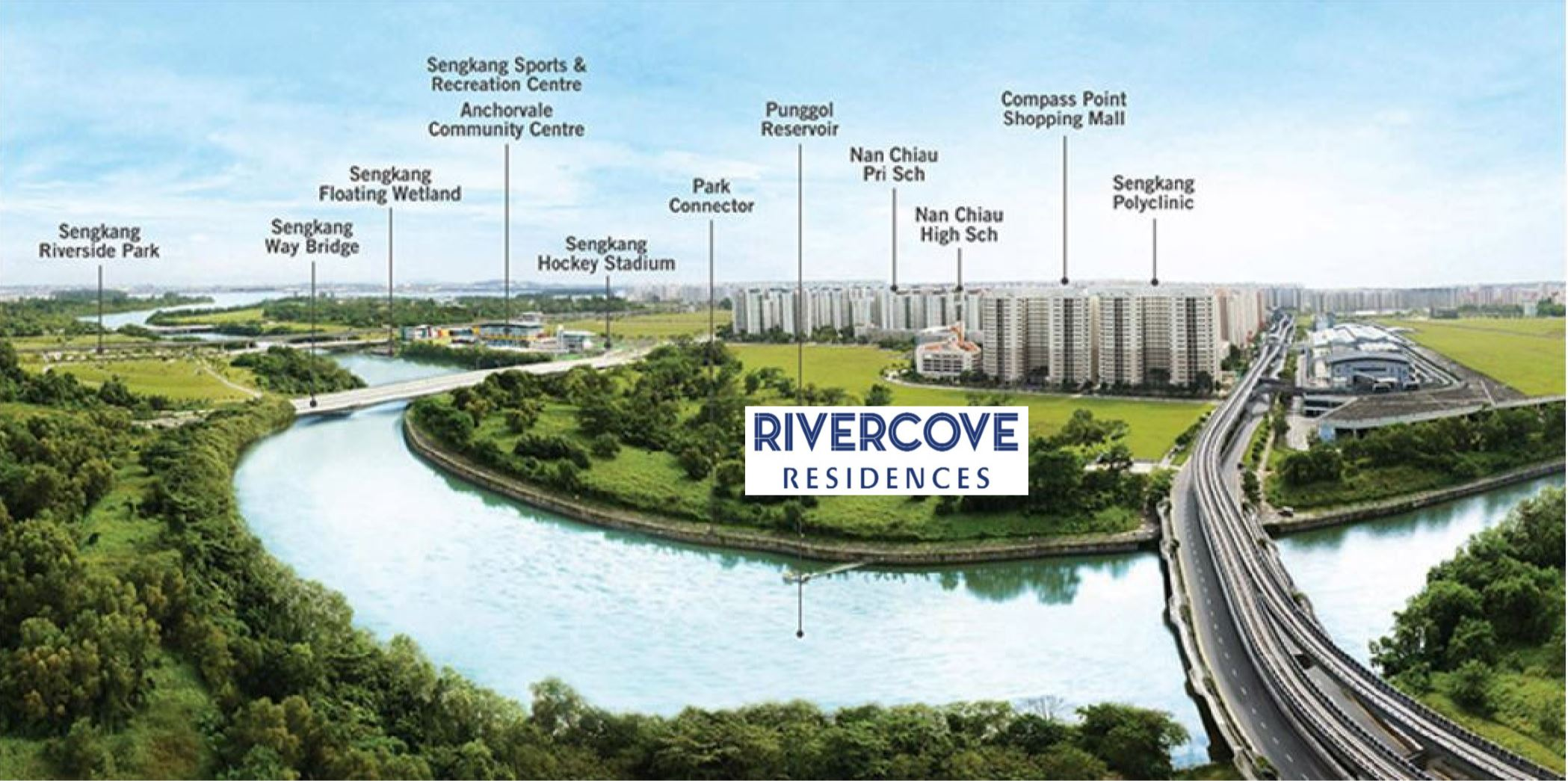 Artist's impression of Rivercove Residences landscape