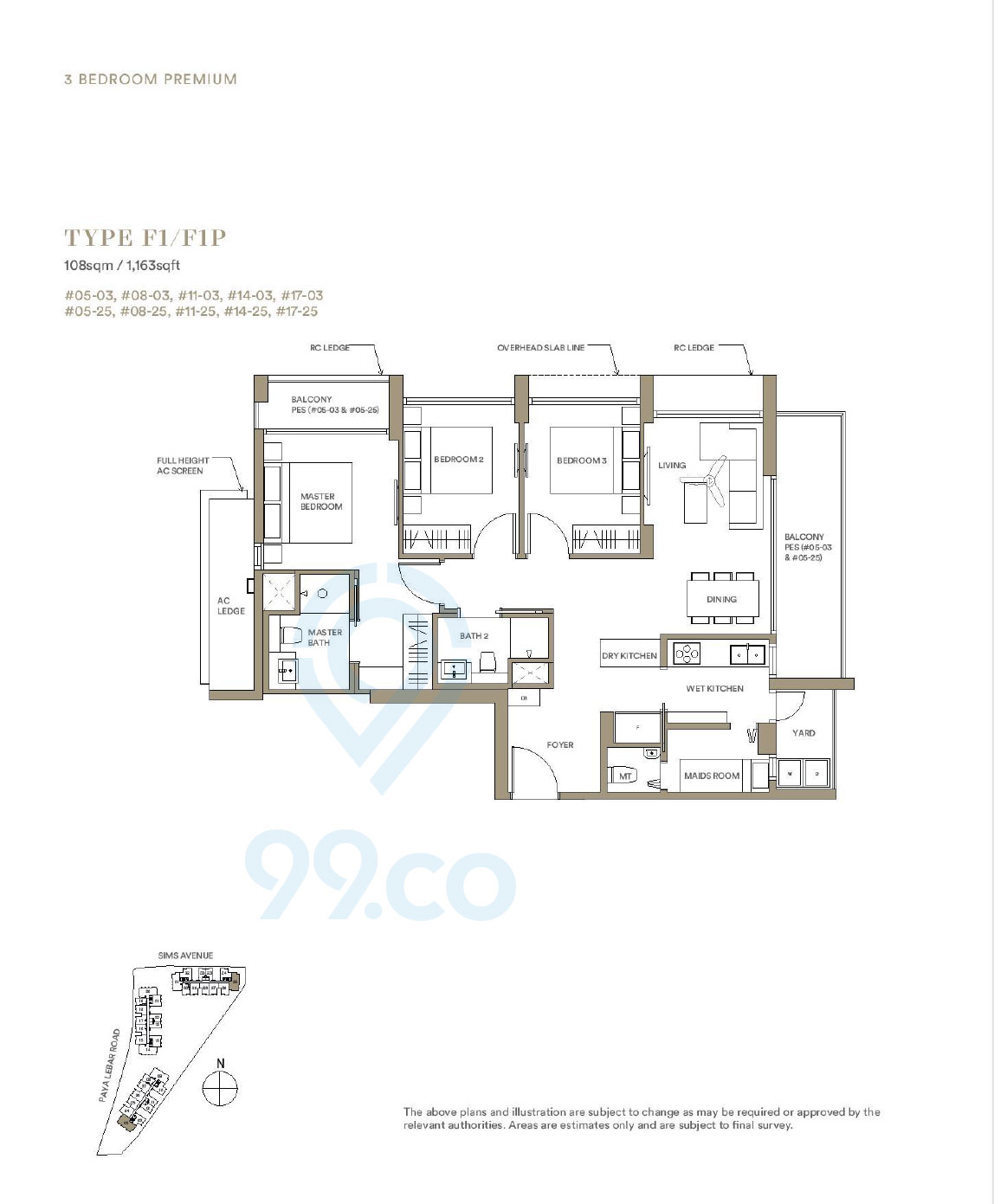 Park Place Residences 3 Bedroom Premium Floor Plan
