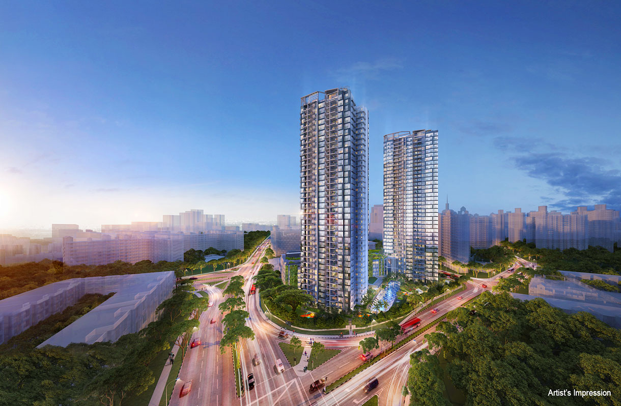Gem Residences in Toa Payoh is flanked by expressways. 99.co.
