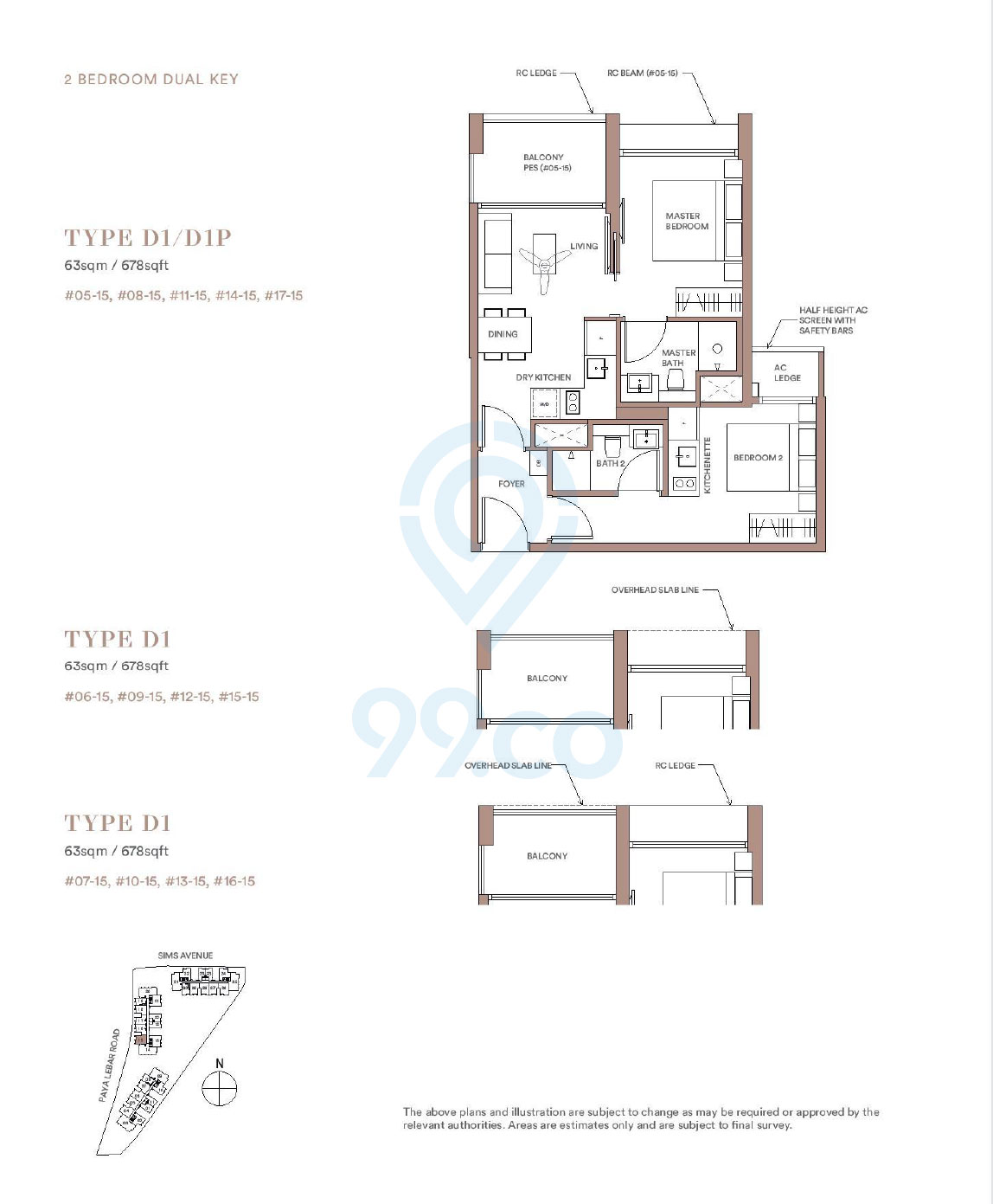 Park Place Residences 2 Bedroom Dual Key Floor Plan