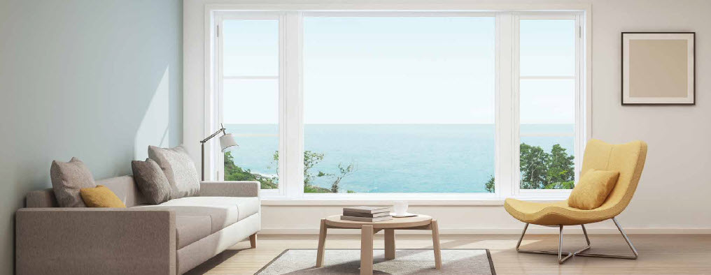 The view from a window of Seaside Residences