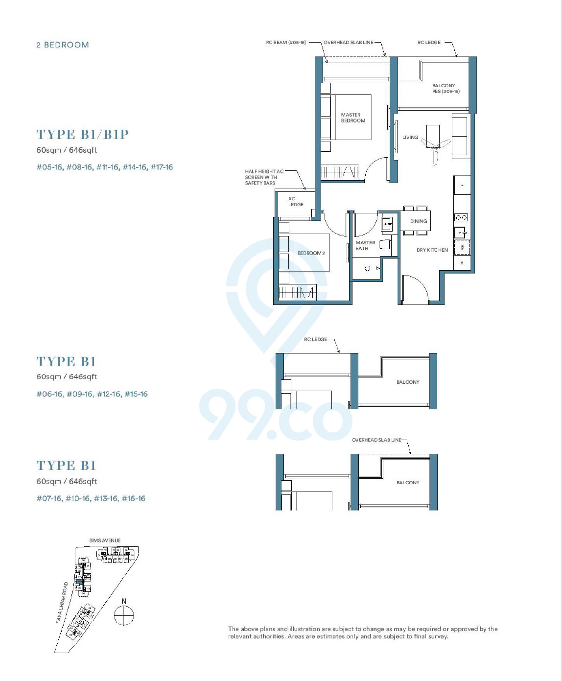 Park Place Residences 2 Bedroom Floor Plan