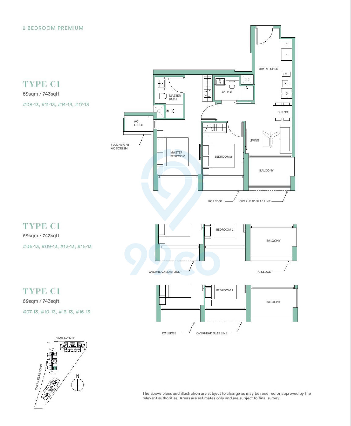 Park Place Residences 2 Bedroom Premium Floor Plan
